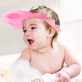 BABY MATE 2 PCS LEAK PROOF Baby Bath Visor (PINK & BLUE, Adjustable Breakaway Buckles)