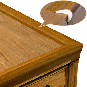 BABY MATE New Generation Baby Proofing Table Edge Protectors Table Corner Guards (20' Feet Edges & Tapes + 4 Corners, Vintage Oak) - Childproofing Products - Desk Edge Cushion Foam Roving Bumpers