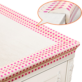 BABY MATE New Generation Baby Proofing Table Edge Protectors Table Corner Guards (POLKA DOTS, 20' Edges & Tapes + 4 Corners)